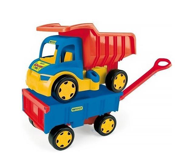 Gigant Truck - Wywrotka + Przyczepa od firmy WADER  #zabawki #supermisiopl