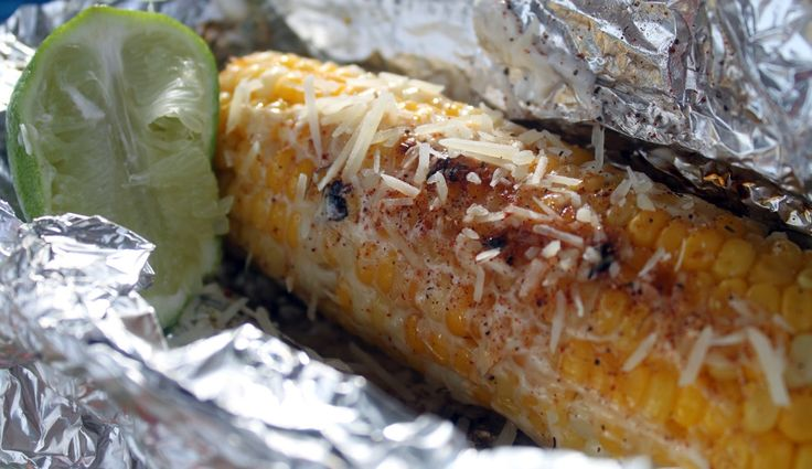 Elote Mexican corn for #camping
