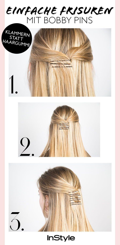 Beauty-Trend: 11 einfache Frisuren mit Bobby Pins, die super