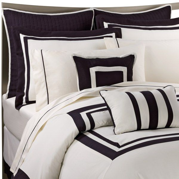 Luxe hotel black 9 11 piece comforter super set bed bath - Bed bath and beyond bedroom furniture ...