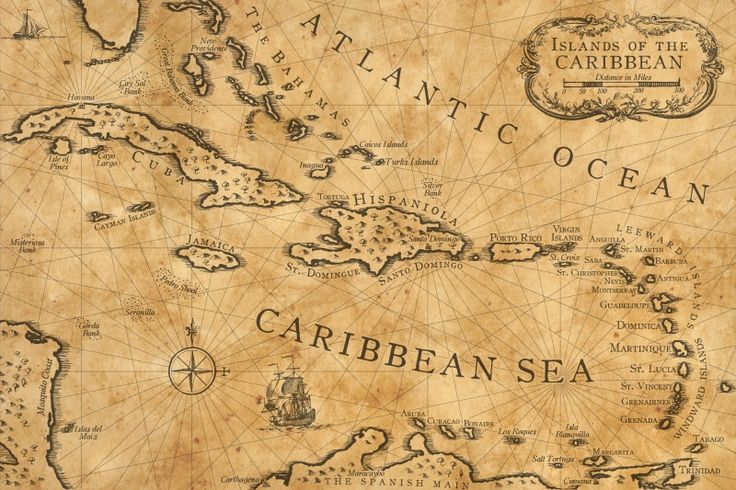 Caribbean Nautical Chart by shawnbrown.deviantart.com on @deviantART