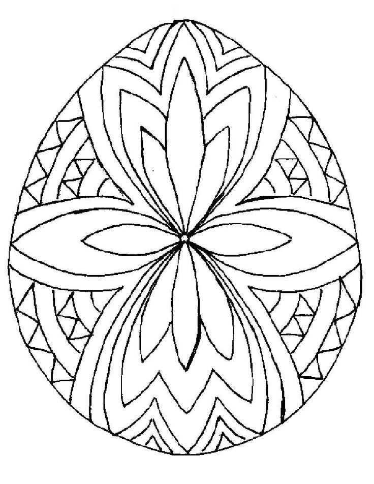 Simple Easter Coloring Pages