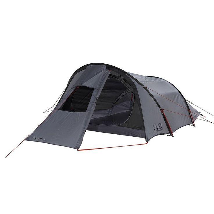 All Tents Camping - Quickhiker Ultralight 3 Hiking Tent - 3 Man, Grey QUECHUA - Tents