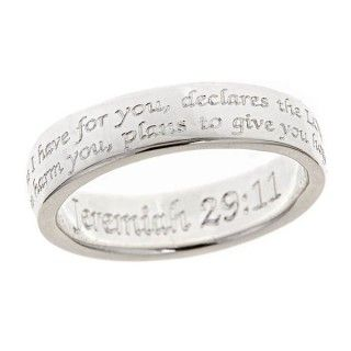 So pretty!! Favorite verse.  Scripture Ring-Jeremiah 29:11 | Cornerstone Jewelry