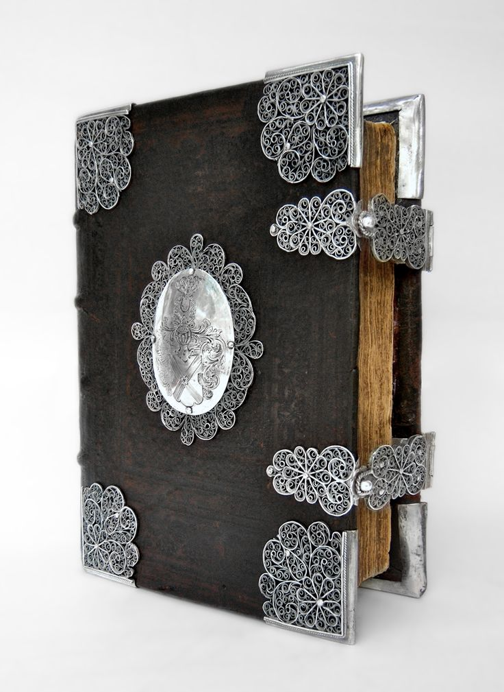 17th century church-book with filigree-silver