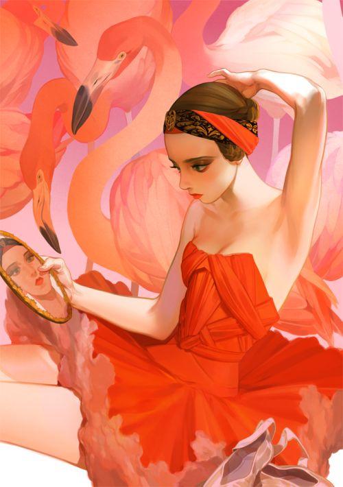 Flamingo Onthro of the Tropics. --Athitas Quatila