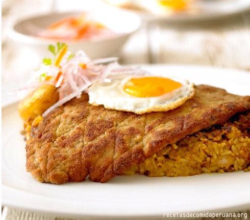Filete de lomo con tacu tacu : Comida Peruana