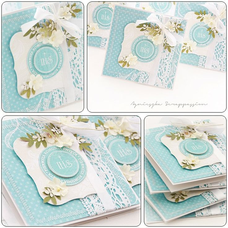 Gorgeous Communion cards....by Agnieszka