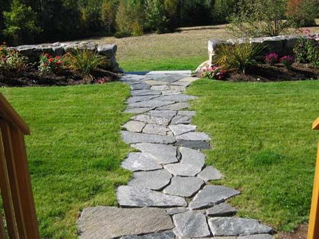 Marvelous The Old Chester Granite Mosaic Flagging Creates A Natural Stone Walkway  That Blends In Beautifully With. Stone WalkwaysStone PatiosBackyard ...