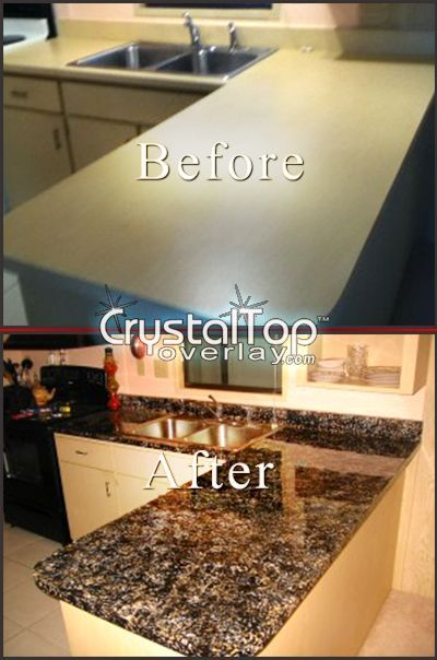 Faux granite - This includes really clear directions on color combos for whatever look you're going for.