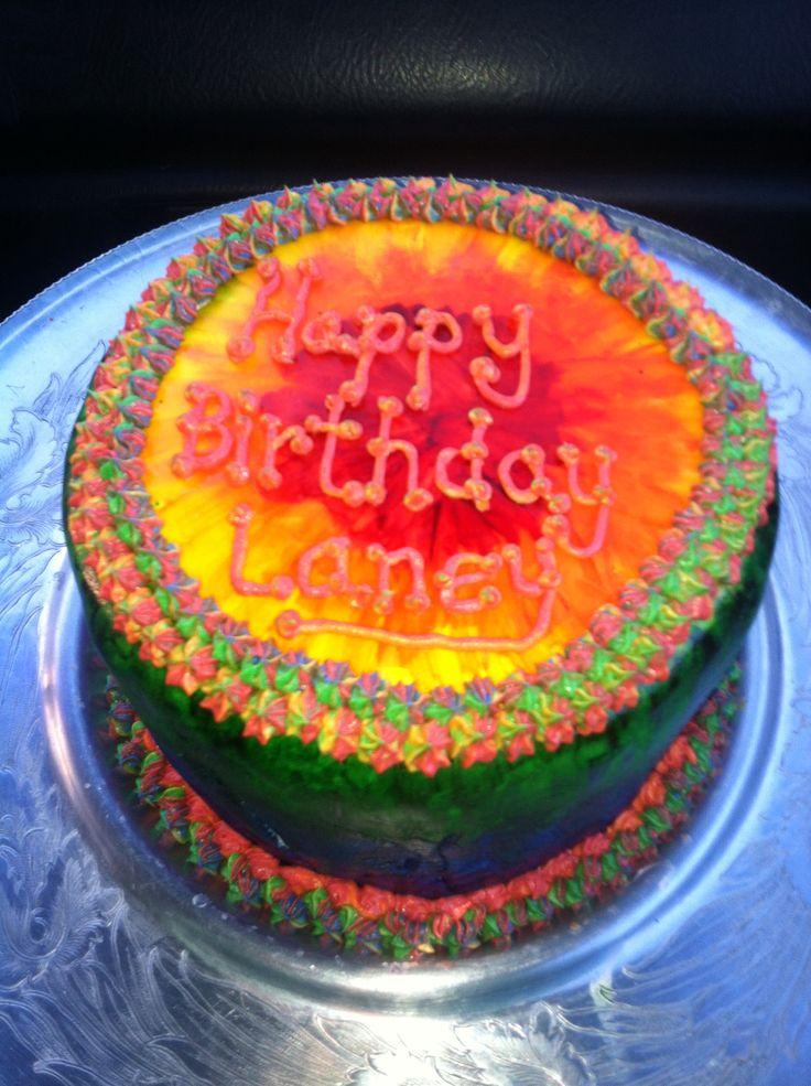 Tye dye cake