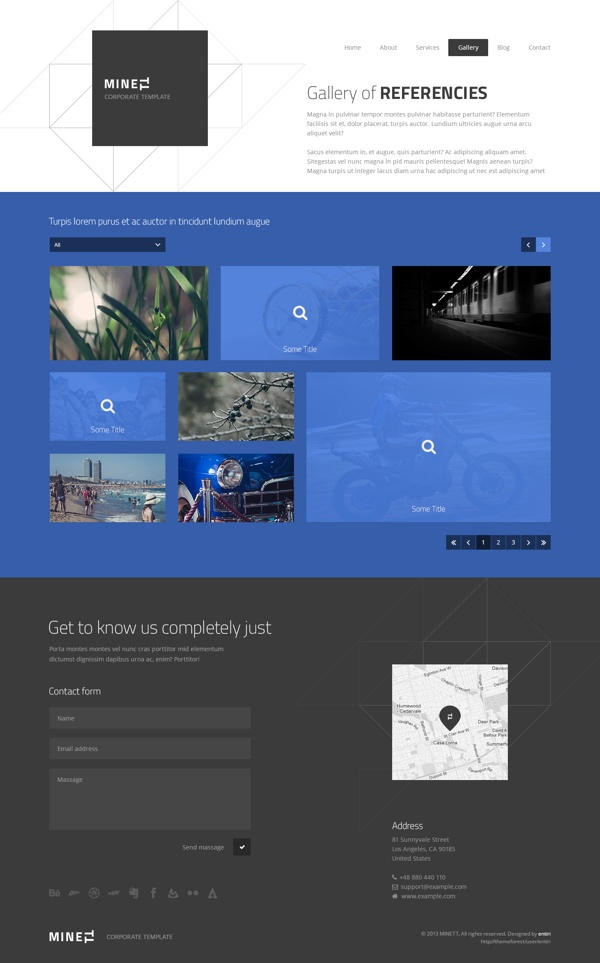 MINETT   Modern template by entiri , via Behance