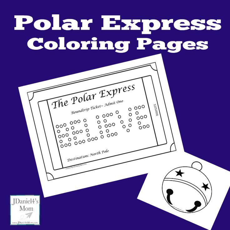 polar express coloring pages kindergarten - photo#18