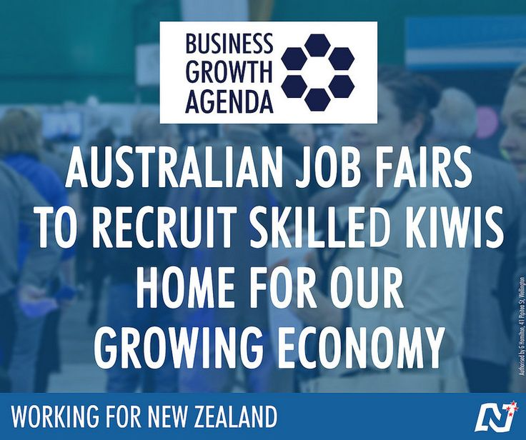 A re-elected National Government will hold Kiwi expat Job Fairs in Brisbane, Sydney and Melbourne to recruit skilled Kiwis back home for our growing economy. http://ntnl.org.nz/1uD6IL2. Keep the team that's #Working4NZ. Party vote National.