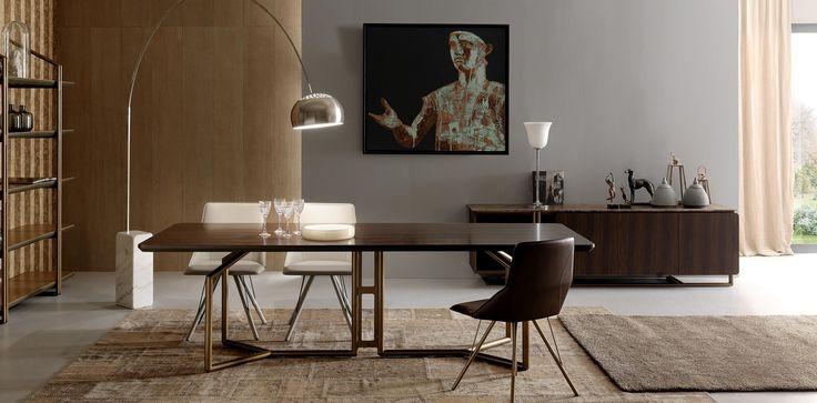 -Tavolo Tolomeo- Il mondo degli strumenti musicali è stata l'ispirazione per questo tavolo, come l'organo che unisce la verticalità delle canne al legno della cassa.  STUDIOMEMO Firenze
