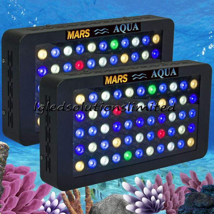 buy 2pcs mars aqua 165w dimmable led aquarium lights for coral reeffull spectrum aquarium led #led #aquarium #lighting #AquariumLightingLEDProducts
