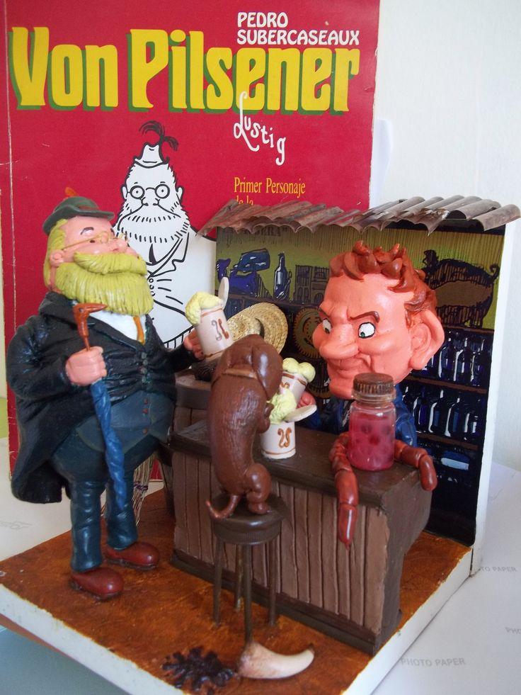 Maqueta primer personaje del comics chileno Von pilsener.