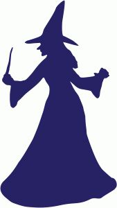 Silhouette Design Store - Design #67950: witch with wand