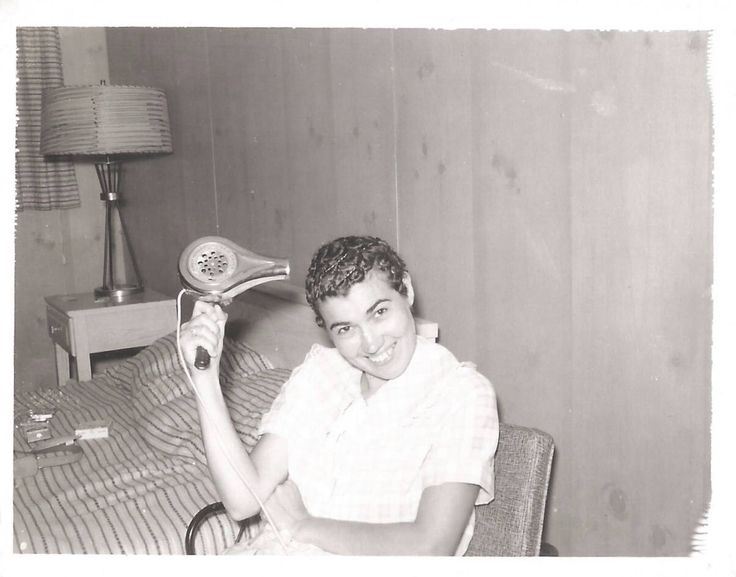 """Vintage Snapshot """"Pin Curls 101"""" Bobby Pins Blow-Dryer Smiling Woman Mid-Century Motel Room Polaroid Found Vernacular Photo by SunshineVintagePhoto on Etsy https://www.etsy.com/listing/507868158/vintage-snapshot-pin-curls-101-bobby"""