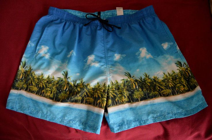 """Mens XL Large Blue Harbour Marks & Spencer Island Swimming Shorts Waist 39-41"""" in Clothes, Shoes & Accessories, Men's Clothing, Swimwear 