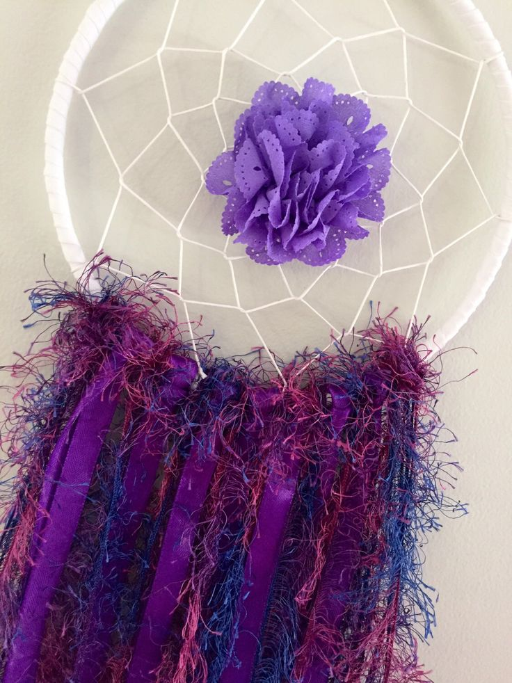 A personal favourite from my Etsy shop https://www.etsy.com/au/listing/511875569/dreamcatcher-purple-bedroom-accessories