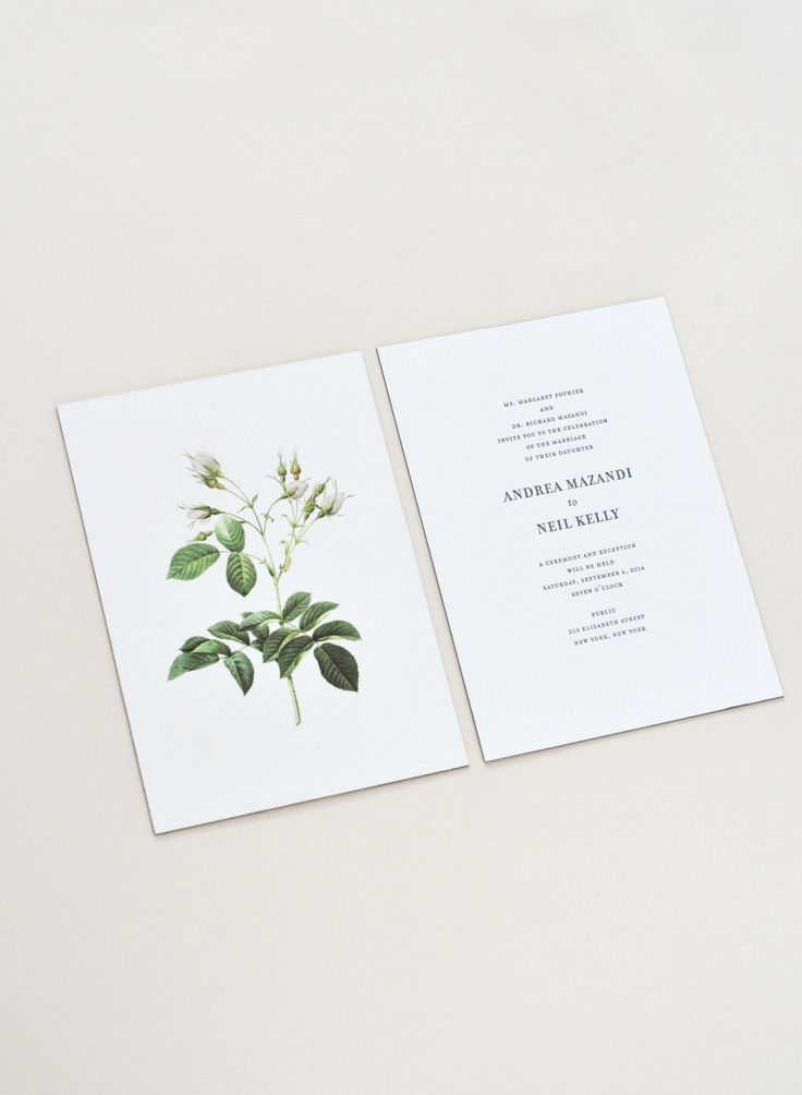 Andrea & Neil Wedding Invitation / Paper & Type.