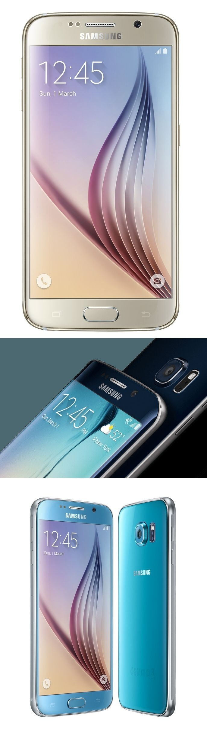 Samsung sets a new, all-metallic tone with the Galaxy S6 and curvy Galaxy S6 Edge, which features a wraparound display. The F1.9 lenses on the 16MP rear cameras on both units promise quality images in low light and the 5.1-inch, 2560-by-1440 pixel AMOLED displays have a resolution of 577 pixels per inch (ppi); much sharper than the 5.5-inch screen on Apple's iPhone 6 Plus (401 ppi) or 4.7-inch iPhone 6 (326 ppi). #GalaxyS6 #GalaxyS6edge #TheNextBigThing @SamsungMobileUS