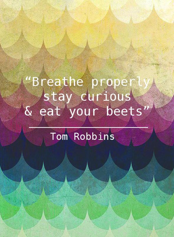 Tom Robbins...