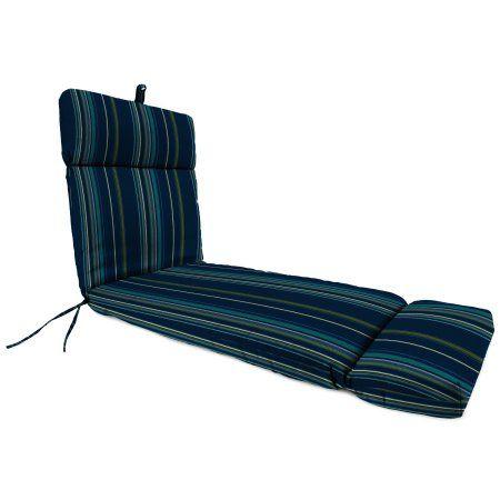 Jordan Manufacturing Outdoor Chaise Cushion, Stanton Str/Lagoon, Beige