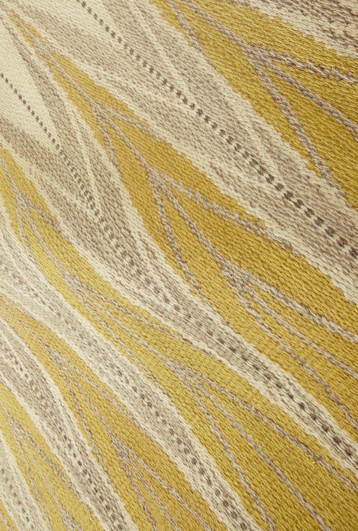 Vintage Swedish Scandinavian Rugs: yellow swedish rug perfect for scandinavian interior #interiordecor…