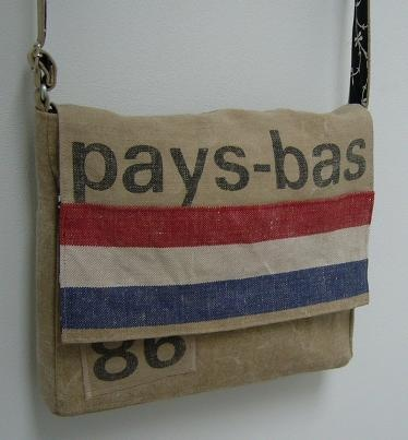 bag made ​​from old Dutch postal bags