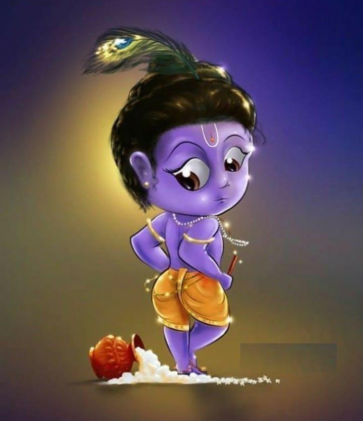 Little Ones Cute Krishna Radha Krishna Art Krishna Radha Painting