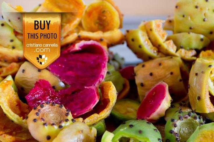 Prickly pears peel: food stock photos