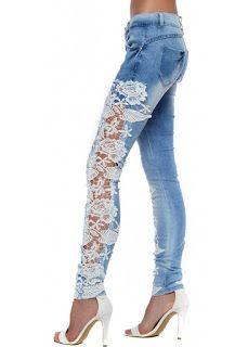 DIY: una idea para personalizar un pantalón vaquero con encaje o ganchillo (crochet) - yo elijo Coser