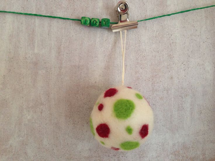 Needle Felted Christmas Decoration