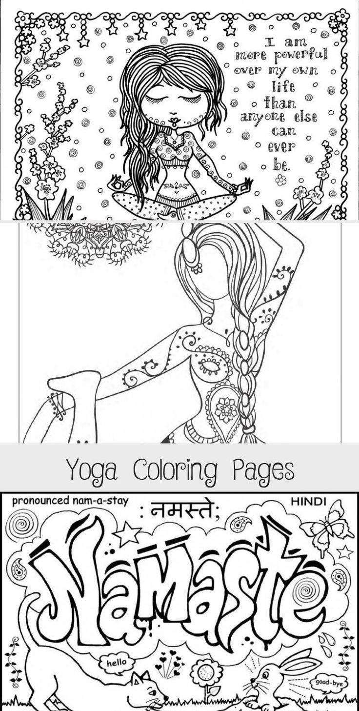Yoga Coloring Pages #PosesYogaDesenho #YogaDesenhoMenina # ...