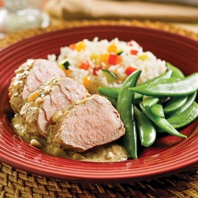 Filets de porc à la moutarde - Soupers de semaine - Recettes 5-15 - Recettes express 5/15 - Pratico Pratique