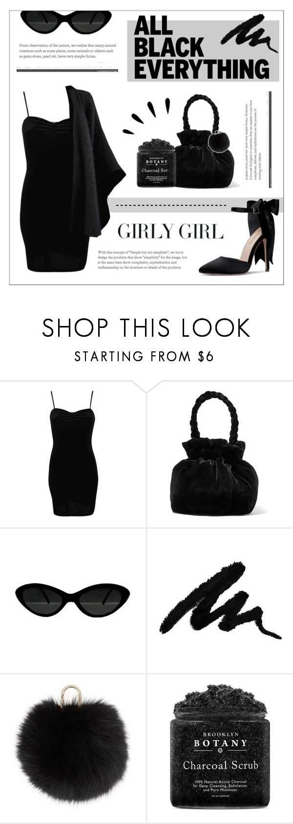 """""""BLACK ON BLACK"""" by mars-sixieme ❤ liked on Polyvore featuring Pilot, Staud, Yves Salomon, Millà, Yves Saint Laurent, Old Navy, black, allblack, allblackoutfit and blackoutfits"""