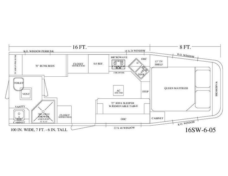 Living Quarter Horse Trailer - 16\' Short Wall Floor Plan ...