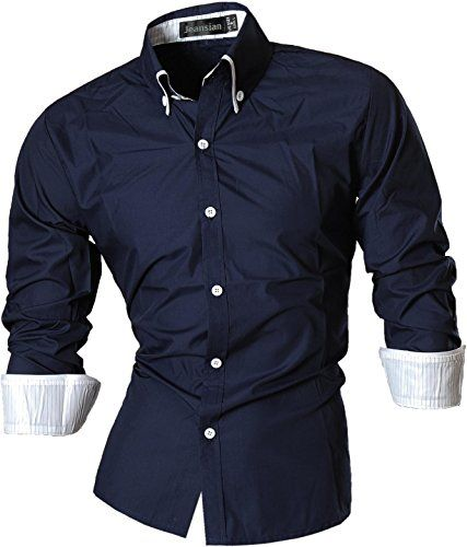 Jeansian Uomo Camicie Maniche Lunghe Moda Men Shirts Slim Fit Casual Long Sleves Fashion 8382 Navy S Jeansian http://www.amazon.it/dp/B00NXE1TGE/ref=cm_sw_r_pi_dp_eieWwb051XYEG