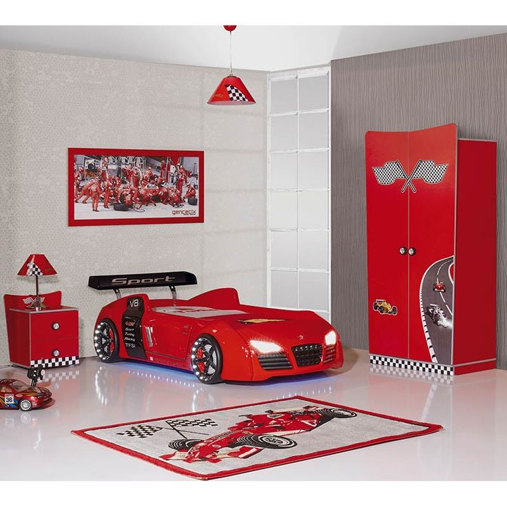 audi v8 race car bed with working led lights and racing sound childs bedroom