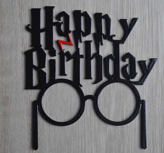 SALE Happy Birthday Harry Potter Inspired Cake Topper