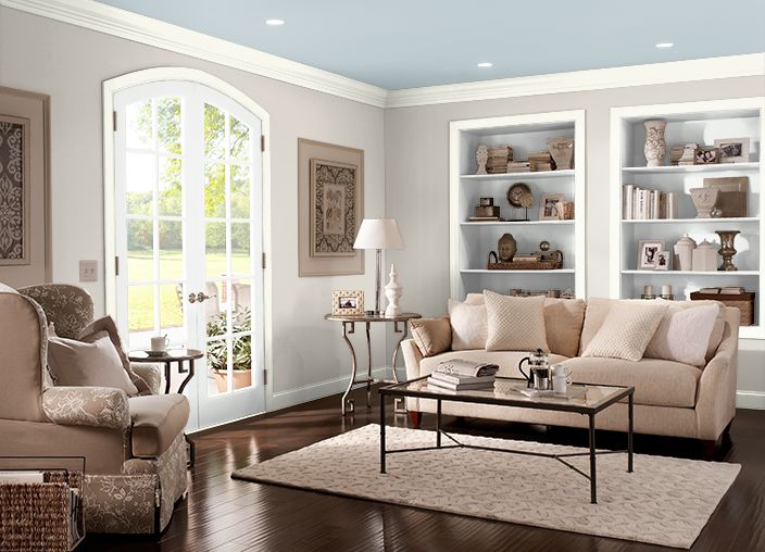 This is the project I created on Behr.com. I used these colors: MINERAL(UL170-15),OZONE(PPU13-14),VERMONT CREAM(W-B-400),