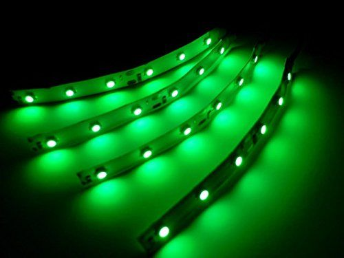 "Green Led Light Strips 4 Water Resistant Not Waterproof 4"" Green Led Strips 6 Superbright"