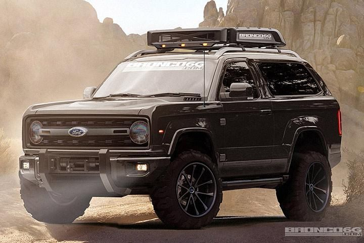 2020 Ford Bronco fantasy rendering