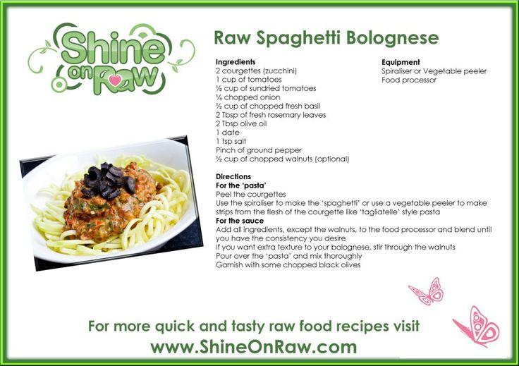 Raw Spaghetti Bolognese