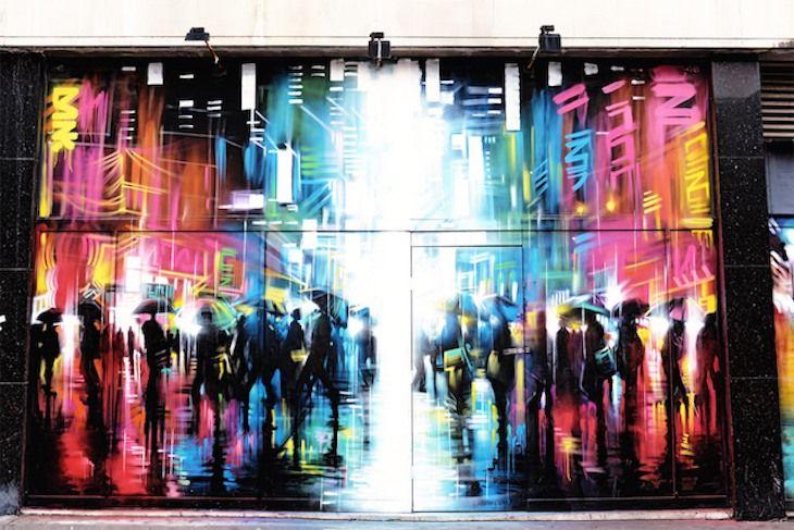 Try another neighbourhoo - Croydon has quite a few art surprises! >> http://londonist.com/2015/07/the-man-who-created-croydon-s-art-quarter