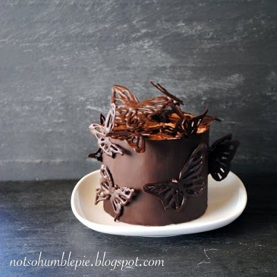Not So Humble Pie: Mini Chocolate Butterfly Cake - I wouldn't be opposed to someone making this for my birthday this year;-)