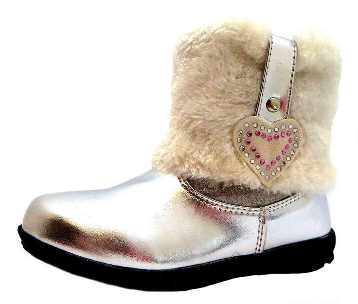 Diseño de Blancanieves y los Rsb de la clase de termohigrómetros de equitación para niña botas de, color Plata, talla 27 EU (infantil)