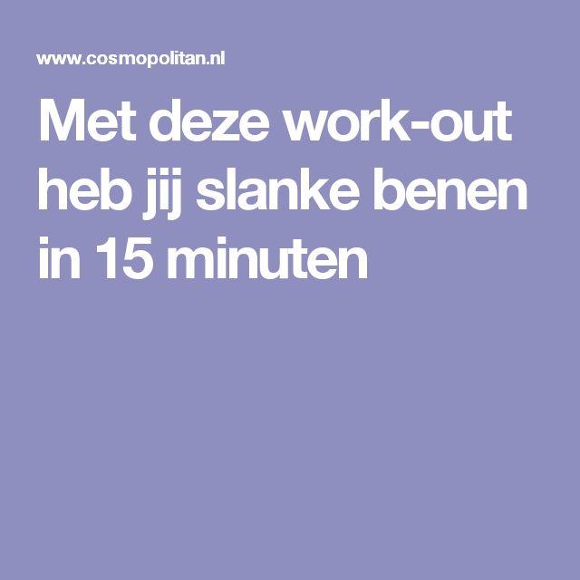 Met deze work-out heb jij slanke benen in 15 minuten